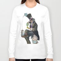 mad hatter Long Sleeve T-shirts featuring Mad Hatter by Oliver Dominguez
