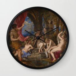 "Titian (Tiziano Vecelli) ""Diana and Actaeon"", 1556-1559 Wall Clock"