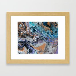 Molten Time (flow art on canvas) Framed Art Print