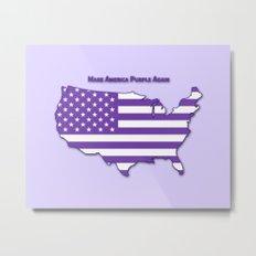 Make America Purple Again United States Map Metal Print