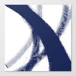 Blue abstract swoosh Canvas Print
