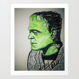 Boris as Frankensteins monster Art Print