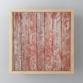 Rustic red wood Framed Mini Art Print