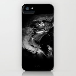Macaw in Monochrome iPhone Case