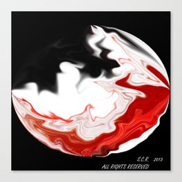 Moon in Fire by Saribelle Rodriguez Canvas Print