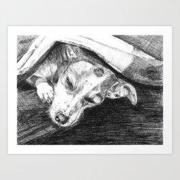 Sleepy Sally Art Print
