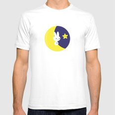 Moonbunny MEDIUM Mens Fitted Tee White