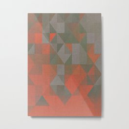 Faceted Vibes Metal Print