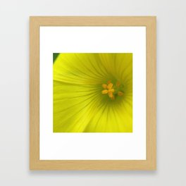 Chartreuse Swirl Framed Art Print