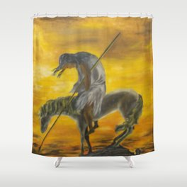 Indian on a horse Shower Curtain
