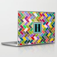 monogram Laptop & iPad Skins featuring H Monogram by mailboxdisco
