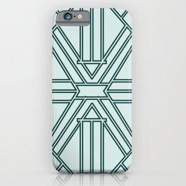 Pastel Teal Deco iPhone Case