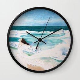 Day at the Sea Wall Clock