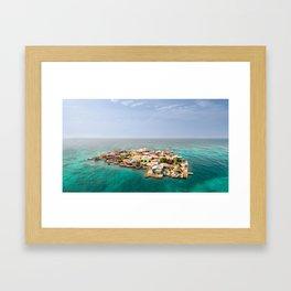 Caribbean Island Framed Art Print