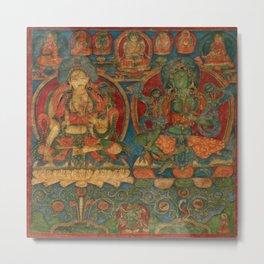 The White Tara and The Green Tara Metal Print
