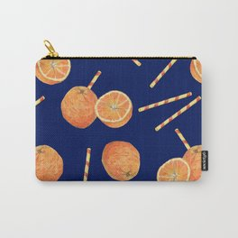 orange juice _ blue Carry-All Pouch