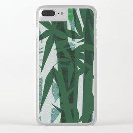 Futuristic Zen Bamboo Feng Shui Boho Glow Print Clear iPhone Case