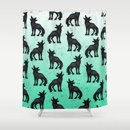 Grey Coyote Shower Curtain
