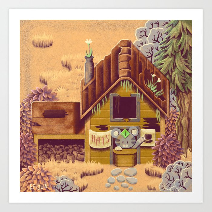 Stardew Valley - Hat Seller Art Print by efiolin