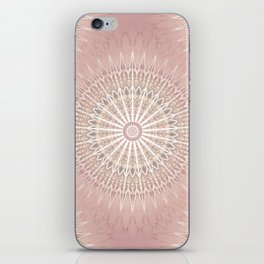 Rose Geometric Mandala iPhone Skin
