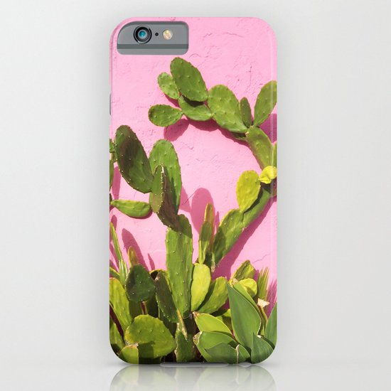 Pink Wall/Green Cactus  iPhone & iPod Case