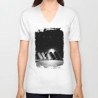 velvet underground V-neck T-shirts featuring Underground by jpearse