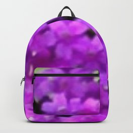 Expressive Purple Wildflowers Backpack