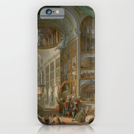 Ancient Rome by Giovanni Paolo Panini iPhone Case