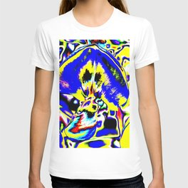 Psychedelic Wisteria Blue Yellow T-shirt
