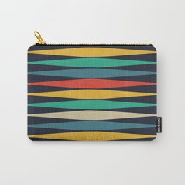 Pointy diamond colorful pattern design Carry-All Pouch