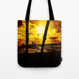 Saturday's Not In The Park (Oceanside Pier) Tote Bag