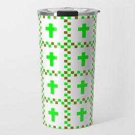 Christian Cross 38 green Travel Mug