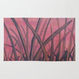 Reeds at dawn Rug