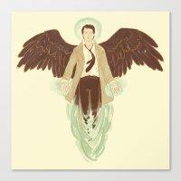 castiel Canvas Prints featuring Castiel by Armellin