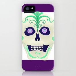 Sugar Skull with Jeweled Eyes iPhone Case