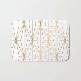 Gold Geometric Pattern Illustration Bath Mat