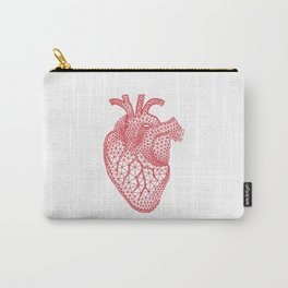 abstract red heart Carry-All Pouch