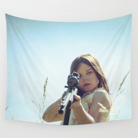india Wall Tapestries featuring India Stoker by Malice of Alice