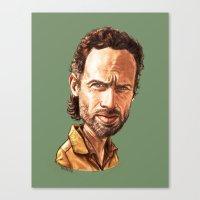 """rick grimes Canvas Prints featuring Rick Grimes by Patrick Fodéré  """"Doud"""""""
