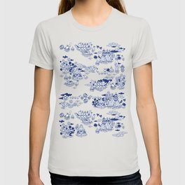 FLOOD IN ANTIQUE CHINESE PORCELAIN T-shirt