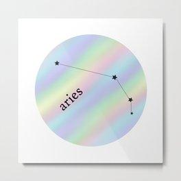 Holographic Aries Constellation Metal Print