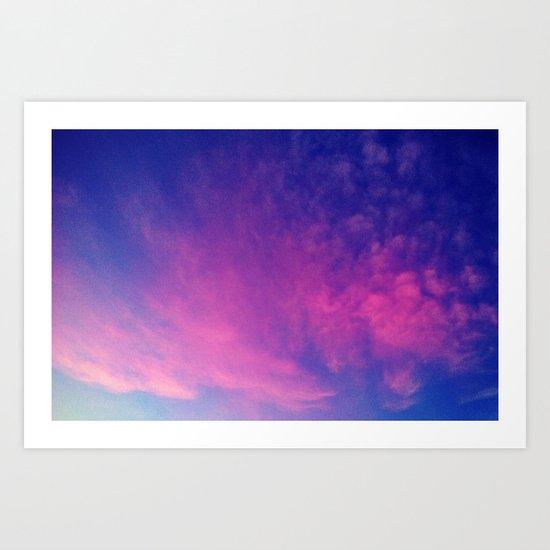 Sunrise series- Cloud of Pink Art Print