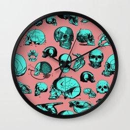 Skull Overload Pattern Wall Clock
