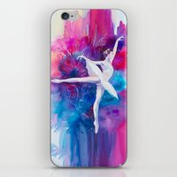 ballerina iPhone & iPod Skins featuring Ballerina by Slaveika Aladjova