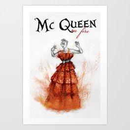 Mc Queen on fire Art Print
