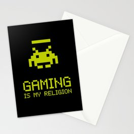 Gaming is my religion Stationery Cards
