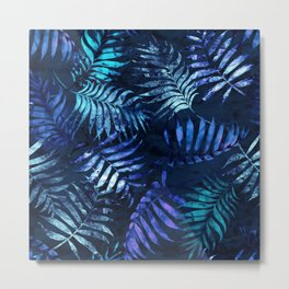 Reeya Tropical Blue Metal Print