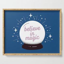 "Crystal ball ""believe in magic"" Serving Tray"