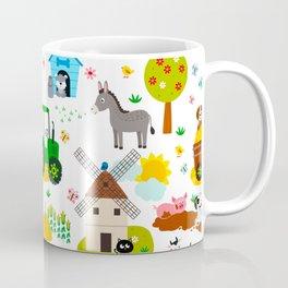 Cute Barnyard Farm Animals Pattern Coffee Mug