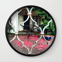 Through The Fence; From Roberta Winters photography Wall Clock